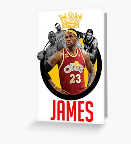 LeBron James (King James) Design | by xxdengraphicxx Greeting Card
