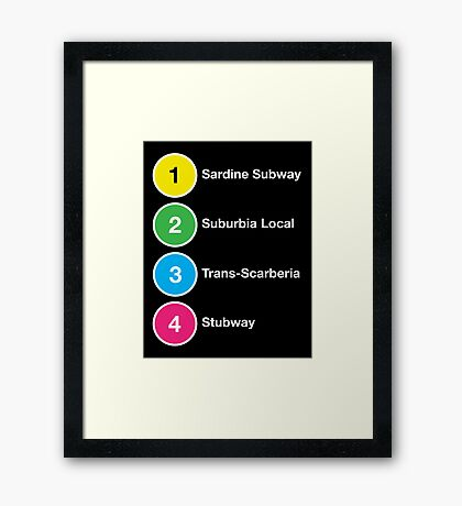 TTC Parody Line Names Framed Print