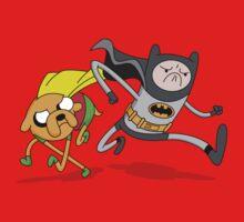 Adventure Time Batman and Robin Mash Up by DeepFriedArt