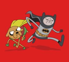 Adventure Time Batman and Robin Mash Up by DeepFriedArt