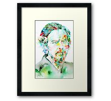 ALAN WATTS portrait Framed Print