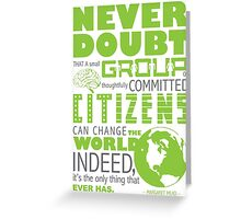 Change the World Greeting Card