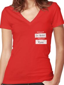 "Dr Geller, ""Ross"" Women's Fitted V-Neck T-Shirt"