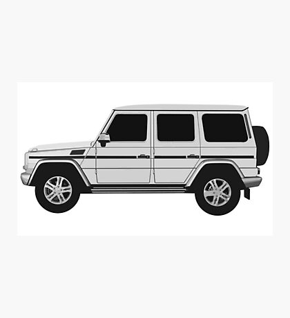 Mercedes-Benz  G Wagon - side Photographic Print