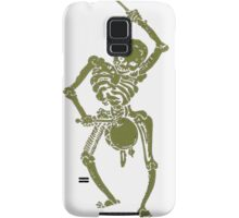 A Zombie Undead Skeleton Marching and Beating A Drum Samsung Galaxy Case/Skin