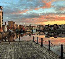 HDR Sunset over the Shore in Leith, Edinburgh by Miles Gray