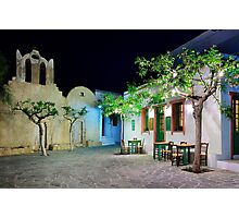 Have a seat in Folegandros Photographic Print