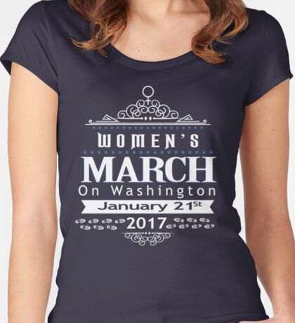 Million Women's March on Washington 2017 Women's Fitted Scoop T-Shirt