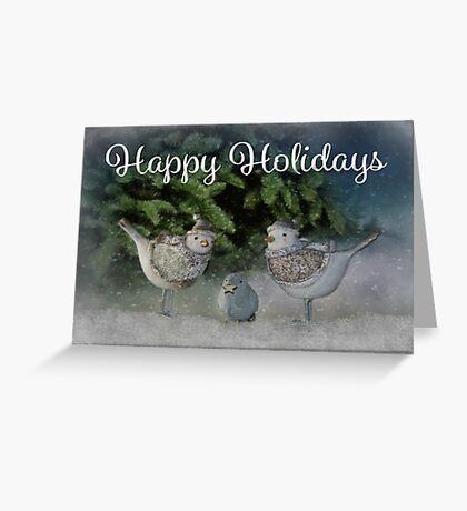 Snow Birds - Happy Holidays Greeting Card