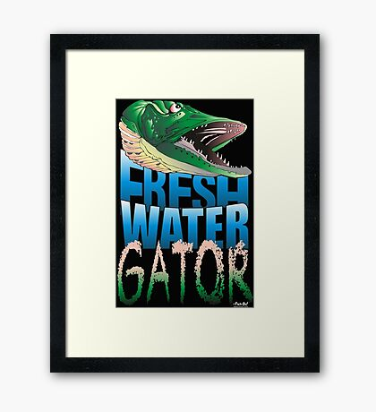 Fresh Water Gator Framed Print