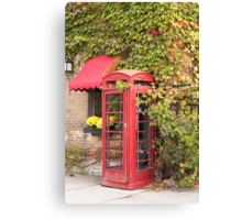 An old style telephone booth Canvas Print