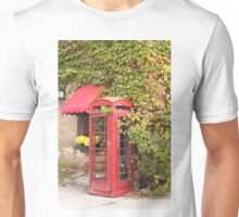 An old style telephone booth Unisex T-Shirt