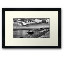 Beautiful clouds at the Cliffs Framed Print