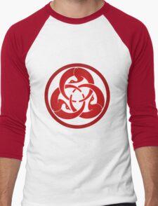Hagakure Red Men's Baseball ¾ T-Shirt