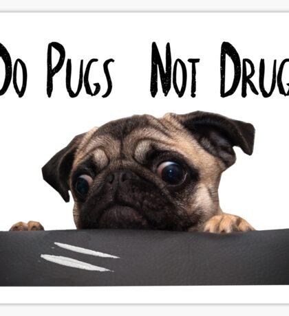 Stylized Pugs not Drugs Sticker