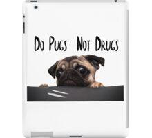 Stylized Pugs not Drugs iPad Case/Skin