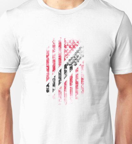 Trinidad & Tobago and America Flag Combo Distressed Design Unisex T-Shirt