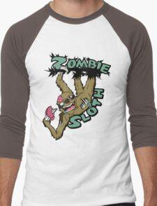 Zombie Sloth Men's Baseball ¾ T-Shirt