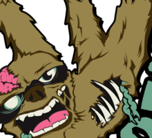 Zombie Sloth Sticker