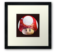 Hype Mario Shroom Framed Print