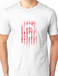 Turkey and America Flag Combo Distressed Design Unisex T-Shirt