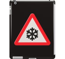 UK Road sign wintry conditions iPad Case/Skin