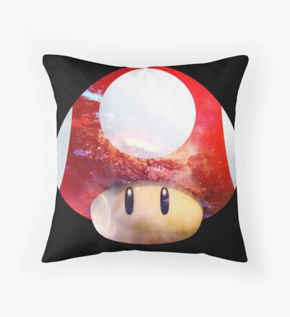Hype Mario Shroom Throw Pillow