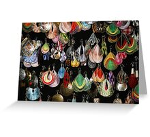 Abstract earrings Greeting Card