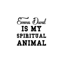 emma duval is my spiritual animal Photographic Print
