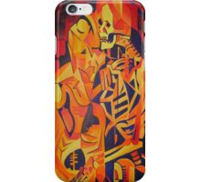 A Skeleton and A Corpse Embracing Death iPhone Case/Skin