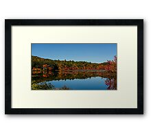 Autumn Trees And Lake Reflection Landscape Framed Print