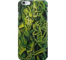 A Skeleton Embracing A Zombie Halloween Horror iPhone Case/Skin