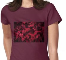Claret stained texture abstract  Womens Fitted T-Shirt