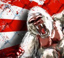MMA fighting gorillas Sticker