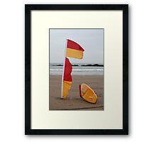 Coast Guard surfboard Framed Print