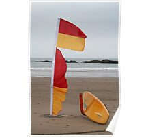 Coast Guard surfboard Poster
