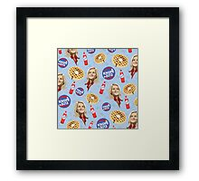 What's Important: Friends, Waffles, and Work  Framed Print