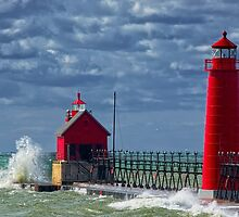 Grand Haven Fall by Roger  Swieringa