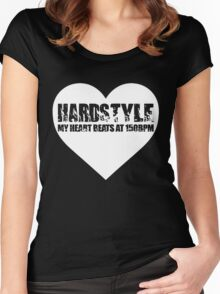 My Heart beats at 150BPM Hardstyle Women's Fitted Scoop T-Shirt