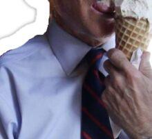 Joe Biden and Ice Cream Sticker