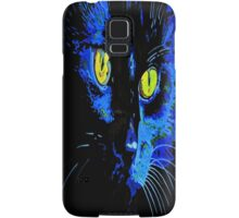 Marley The Cat Portrait With Striking Yellow Eyes Samsung Galaxy Case/Skin