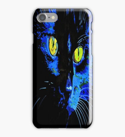 Marley The Cat Portrait With Striking Yellow Eyes iPhone Case/Skin