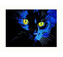 Marley The Cat Portrait With Striking Yellow Eyes Art Print
