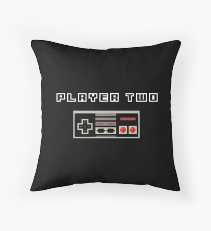Player Two | Best Friends | Retro Gaming Design Set Throw Pillow