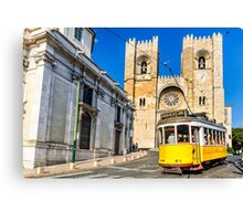 Historic yellow tram of Lisbon, Portugal Canvas Print