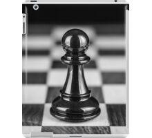 The black pawn solitaire  iPad Case/Skin