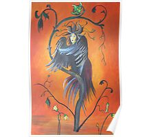 Gamaun The Prophetic Bird With Ruffled Feathers Poster