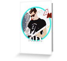Artic Monkeys Style - Alex Greeting Card