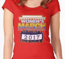 Million Women's March on Washington 2017 T-Shirt Women's Fitted Scoop T-Shirt