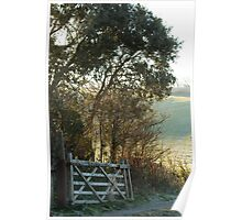 Countryside Gate and Track Poster